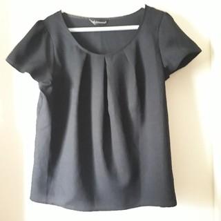 シマムラ(しまむら)の黒色トップス(カットソー(半袖/袖なし))