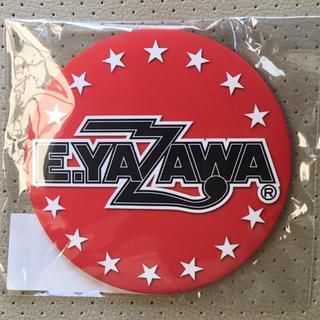 ヤザワコーポレーション(Yazawa)の矢沢永吉 E.YAZAWA 缶ミラー ロゴ 赤 レッド 非売品(ミュージシャン)