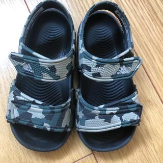 アディダス(adidas)のyu様専用  adidas サンダル 14センチ カモフラ 迷彩(サンダル)