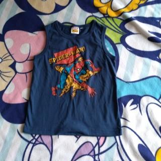 ジーユー(GU)のGU スパイダーマン柄タンクトップ サイズ120(Tシャツ/カットソー)