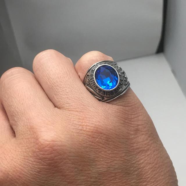 米軍 ミリタリーリング  エアフォース カレッジリング 16号 送料無料 メンズのアクセサリー(リング(指輪))の商品写真