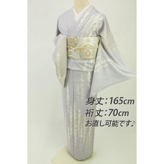《紫の君様専用★sale★『三大刺繍』細やか花模様訪問着◆袷正絹HP4-55》(着物)