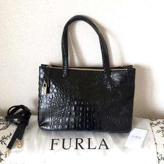 9a708d1e7618 フルラ(Furla)のFURLA 本革クロコ型押し2wayショルダーバッグ(ショルダー