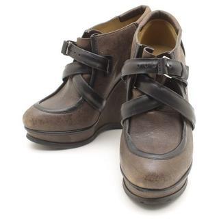 バレンシアガ(Balenciaga)のBALENCIAGAバレンシアガ皮革レザーコードベルトブーティブーツシューズ靴(ブーティ)