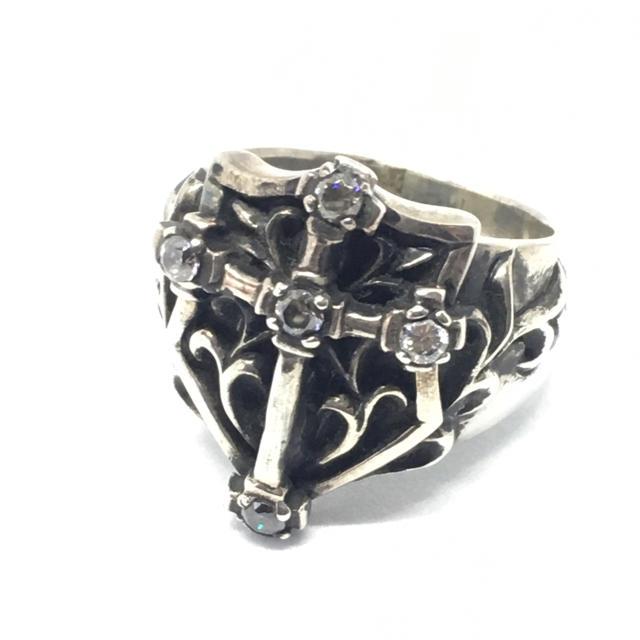 シルバー925 25号 アラベスクシールドクロスリング Silver925 メンズのアクセサリー(リング(指輪))の商品写真