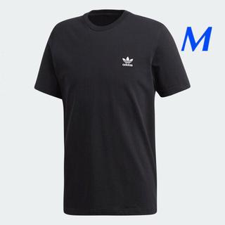 アディダス(adidas)の【メンズM】黒  ワンポイントTシャツ(Tシャツ/カットソー(半袖/袖なし))