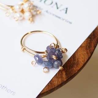宝石質タンザナイトのボリュームリング ete agete アダムエロペ イエナ(リング(指輪))