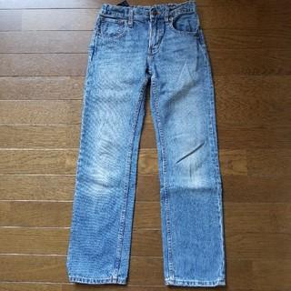 ジーユー(GU)のGU☆ストレートジーンズ☆140ブルー(パンツ/スパッツ)