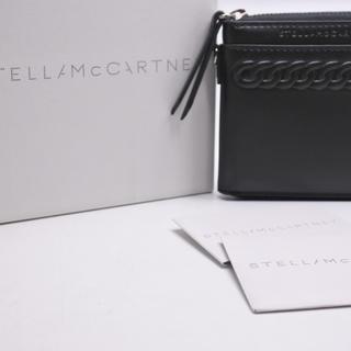 ステラマッカートニー(Stella McCartney)のステラマッカートニー 二つ折り財布 札入れ レザー ブラック 箱付き レディース(折り財布)