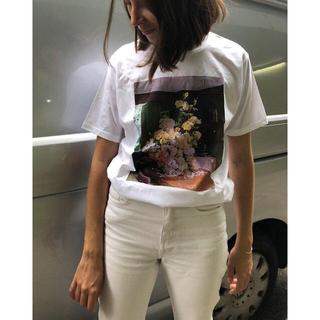 ドゥロワー(Drawer)のfjuraフーラ♡S フラワーTシャツdrawerドゥロワー Tシャツトップス(Tシャツ(半袖/袖なし))