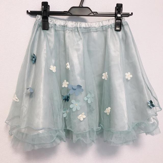 Secret Magic(シークレットマジック)のお花チュールスカート レディースのスカート(ひざ丈スカート)の商品写真