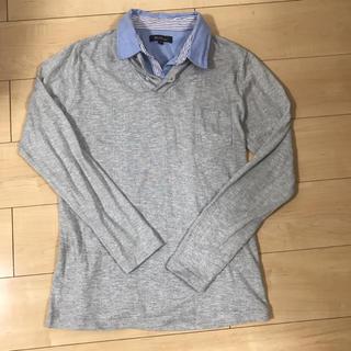 レイジブルー(RAGEBLUE)のグレー長袖シャツ (Tシャツ/カットソー(七分/長袖))