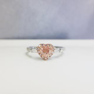 0.5カラットGiaレポートブラウンピンクダイヤモンド指輪(リング(指輪))