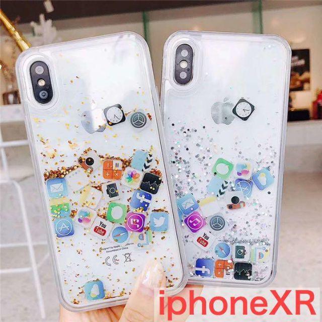 iphone8 ケース アイ フェイス ディズニー 、 アプリが動く iPhoneXR ケース XRケース XR用 iphoneケースの通販 by mioree's shop|ラクマ