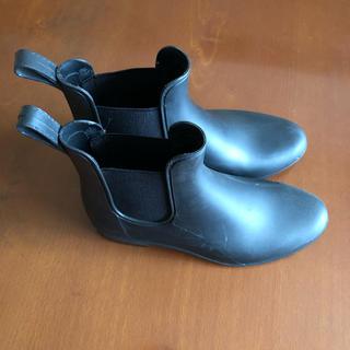 アースミュージックアンドエコロジー(earth music & ecology)のearth  サイドゴア レインブーツ  黒(レインブーツ/長靴)