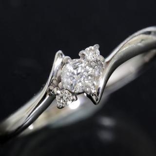 ヨンドシー(4℃)の4℃ ダイヤモンド 3P ゴールド リング 6号 K18WG 新品仕上済 箱 (リング(指輪))