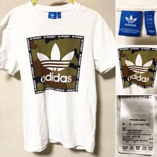 アディダス(adidas)の美品❗️adidas アディダス トレフォイルロゴ  カモフラ柄 Tシャツ(Tシャツ/カットソー(半袖/袖なし))
