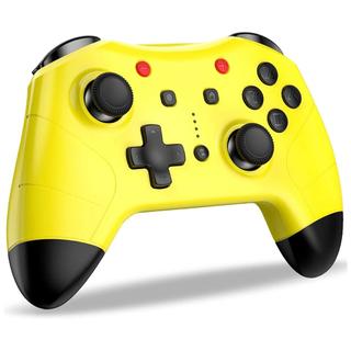 ニンテンドースイッチ(Nintendo Switch)の【美品】任天堂 switchコントローラー Bluetooth ピカチュウカラー(その他)