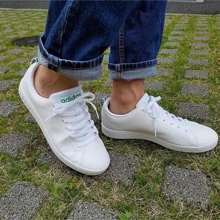 アディダス(adidas)の22.5㎝ ホワイト×グリーン⦅他サイズ22〜32㎝⦆【返品・交換/保証あり】(スニーカー)