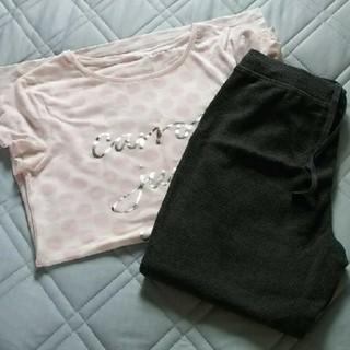 ジーユー(GU)のGU★パジャマ★試着のみ★Mサイズ★水玉柄★ピンク(パジャマ)