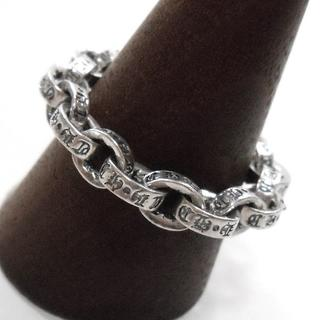 YZY★新品 鎖 ペーパーチェーン リング 24号 指輪 シルバー SV 鎖柄 (リング(指輪))