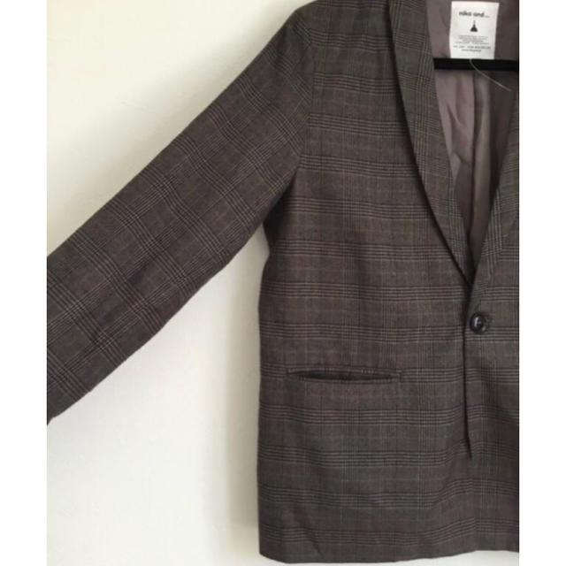 niko and...(ニコアンド)のチャコールジャケット レディースのジャケット/アウター(テーラードジャケット)の商品写真