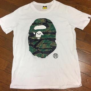 アベイシングエイプ(A BATHING APE)のA BATHING APE 猿顔 人気Tシャツ白サイズ XL(Tシャツ/カットソー(半袖/袖なし))