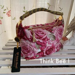 シンクビー(Think Bee!)の牡丹様 専用✨Think Bee! 🐝 ローズ柄ミニハンドバッグ(ハンドバッグ)