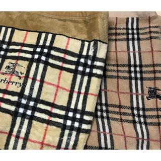 バーバリー(BURBERRY)のバーバリー プローサム シール織毛布 ウールタオルケット(布団)