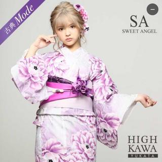 【SWEET ANGEL】紫×白 ピンク グレー 牡丹 レトロ/2018浴衣(浴衣)