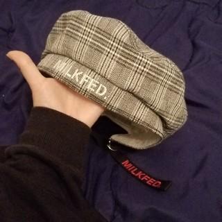 ミルクフェド(MILKFED.)の専用MILKFED.ベレー/グレーチェックとネイビー(ハンチング/ベレー帽)
