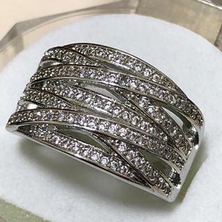 エレガントホワイトサファイア シルバーリング(リング(指輪))