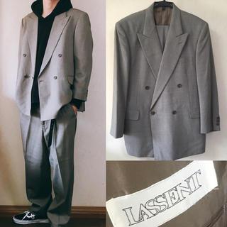 コムデギャルソン(COMME des GARCONS)のLASSENT セットアップ スーツ ダブルジャケット ワイドシルエット(セットアップ)