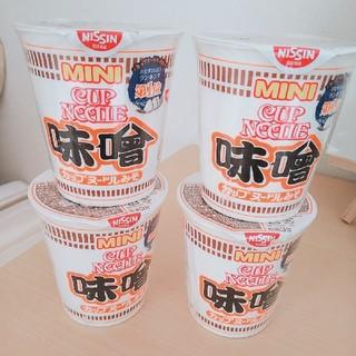 ニッシンショクヒン(日清食品)のカップヌードル味噌ミニサイズ×4(インスタント食品)