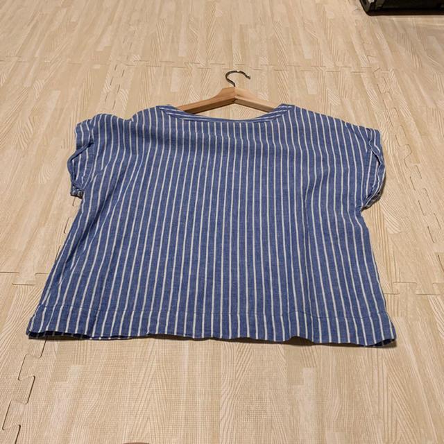 GU(ジーユー)のGUのストライプTシャツです レディースのトップス(シャツ/ブラウス(半袖/袖なし))の商品写真
