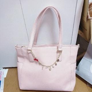 シマムラ(しまむら)の春物しまむら♡ピンクトートバッグ♡多ポケット♡A4サイズ(トートバッグ)
