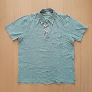 ジーユー(GU)のポロシャツ メンズ 水色(ポロシャツ)