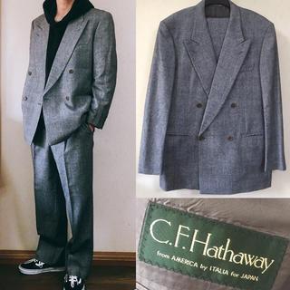 コムデギャルソン(COMME des GARCONS)のC.F Hathaway セットアップ ダブルジャケット スーツ ワイド(セットアップ)