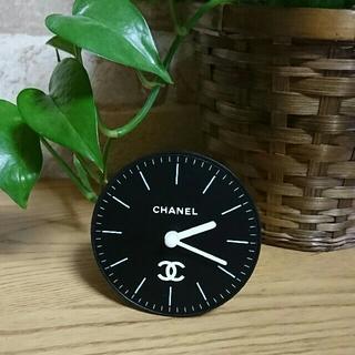 シャネル(CHANEL)のロゴ*卓上時計(黒)(置時計)
