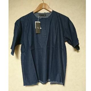 テットオム(TETE HOMME)の新品未使用  テットオム 4.5OZデニムカットオフシャツ(シャツ)