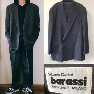 コムデギャルソン(COMME des GARCONS)のbarassi セットアップ ダブルジャケット スーツ ワイドシルエット(セットアップ)