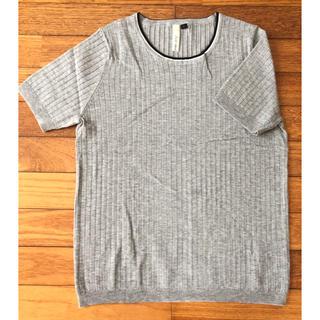 シマムラ(しまむら)のHas ideal 半袖サマーニット グレー (カットソー(半袖/袖なし))