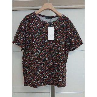 ザラ(ZARA)のZARA ザラ クルーネック 花柄 Tシャツ 半袖(Tシャツ(半袖/袖なし))