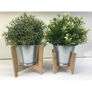 イケア(IKEA)のNYSKORDAD ニースコルダード プラントスタンド2点セット, 竹(インテリア雑貨)