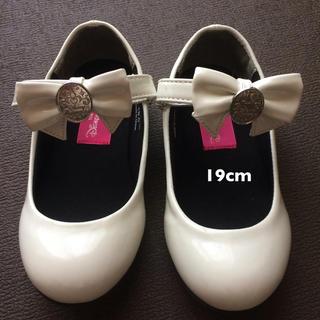 ディズニー(Disney)のディズニー プリンセス 靴 18 ストラップシューズ 白 (フォーマルシューズ)