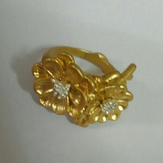 フェリシモ(FELISSIMO)のフェリシモ サニークラウズ お花のリング アンティーク風フラワーリング 指輪(リング(指輪))