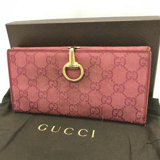 06789046e9c7 Gucci - GUCCI👛二つ折り財布 シマ ハートピンクの通販 by さっちゅ's ...