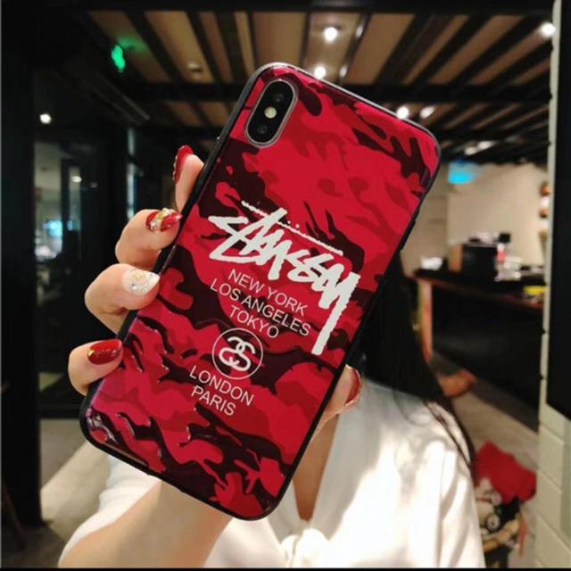 iphone x ケース シリコン キャラクター | kao様専用出品    XR.  レッドの通販 by 平隊員's shop|ラクマ
