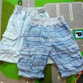 ジーユー(GU)の120の半ズボン2枚セットで 女の子にも!(パンツ/スパッツ)