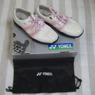 ヨネックス(YONEX)のYONEX ゴルフ シューズ(25.5㎝/ピンク)(シューズ)